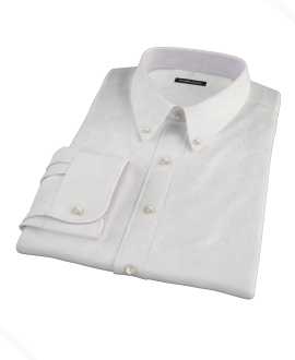 White 100s Oxford Custom Made Shirt 