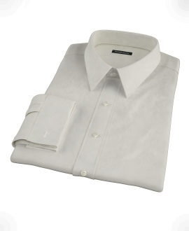 Ivory Easy Care Broadcloth Custom Made Shirt 