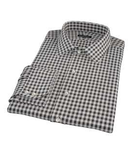 Heavy Black Check Custom Dress Shirt