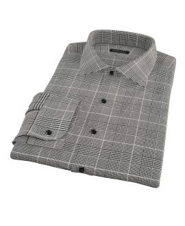 Heavy Black Houndstooth Tailor Made Shirt 