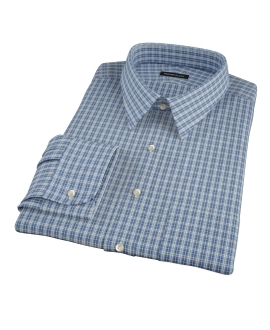 Canvas Blue Oxford Plaid Men's Dress Shirt 