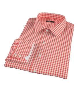 Canclini Red Gingham Fitted Dress Shirt