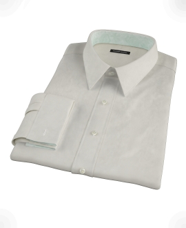 Ivory Easy Care Broadcloth Custom Dress Shirt 