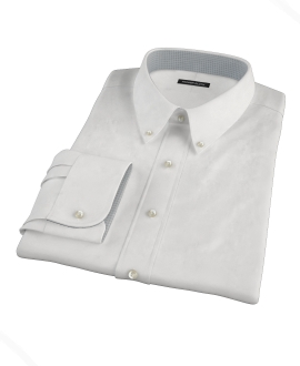 White Egyptian Twill Custom Made Shirt 