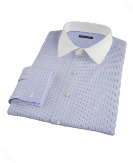 Light Blue and Navy Stripe Tailor Made Shirt 