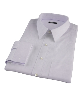 Lavender Wrinkle Resistant Mini Herringbone Fitted Dress Shirt 