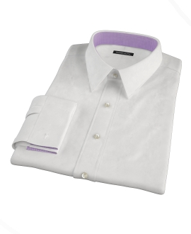 White Pinpoint Custom Made Shirt