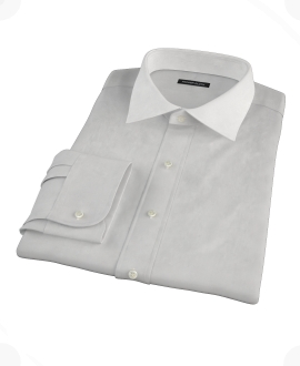Light Gray End on End Custom Dress Shirt