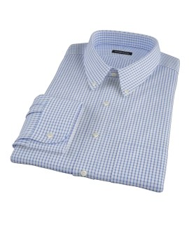 Greenwich Blue Grid Custom Made Shirt