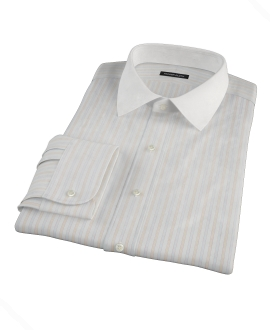 Blue and Orange Stripe Custom Dress Shirt