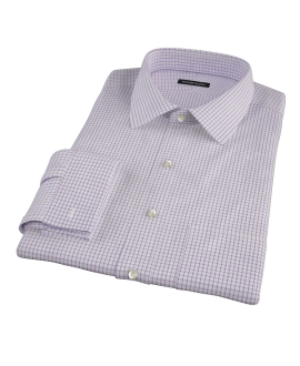 Purple Grid Men's Dress Shirt