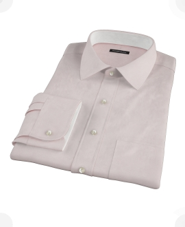 Pink Royal Oxford Fitted Dress Shirt 