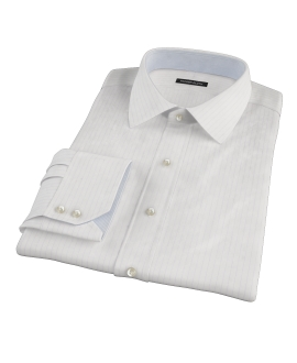 Lavender Stripe Twill Tailor Made Shirt
