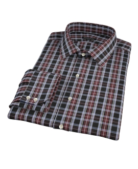 Whistler Maroon Plaid Custom Dress Shirt