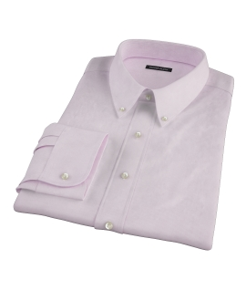 Pink Mini Grid Fitted Dress Shirt 