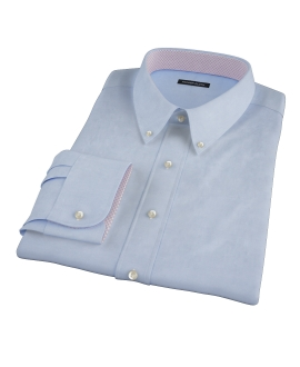 Bowery Blue Wrinkle-Resistant Pinpoint Fitted Dress Shirt