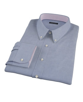 Blue 100s Oxford Dress Shirt