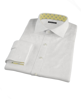 White 140s Broadcloth Dress Shirt