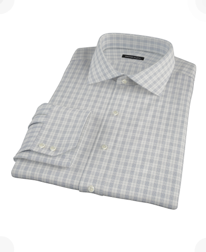 Complex Variegated Navy Check Men's Dress Shirt