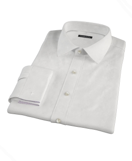White Royal Oxford Fitted Shirt