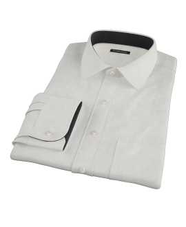 White Phantom Wide Stripe Custom Dress Shirt 