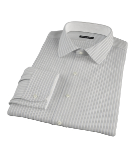Japanese Light Blue and Gray Stripe Dress Shirt