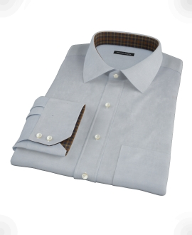 Stormy Light Blue Pinpoint Custom Made Shirt