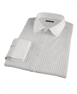 Japanese White and Lavender Fitted Shirt