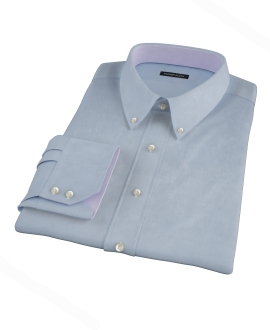 Blue Herringbone Dress Shirt 
