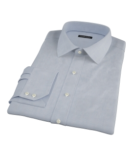 Light Blue Glen Plaid Fitted Shirt 