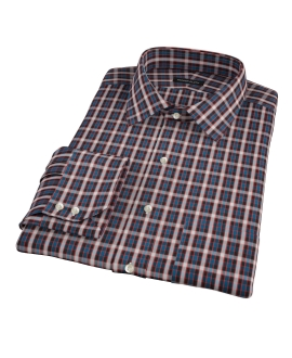 Mandarin Ocean Plaid Dress Shirt