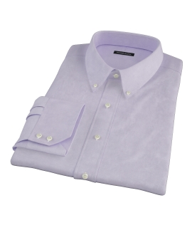 Lilac Heavy Oxford Cloth Men's Dress Shirt