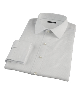 100s Pale Gray Stripe Tailor Made Shirt 
