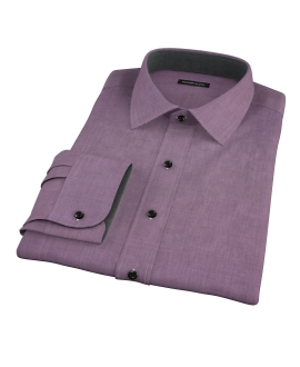 Jones Eggplant End on End Dress Shirt 