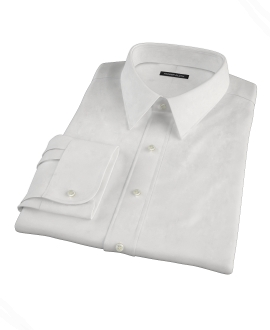 White 100s Oxford Fitted Dress Shirt 