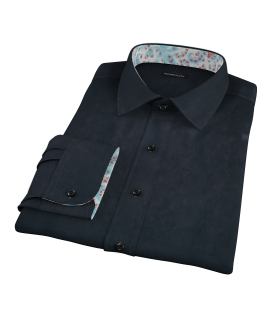 Navy Broadcloth Custom Made Shirt