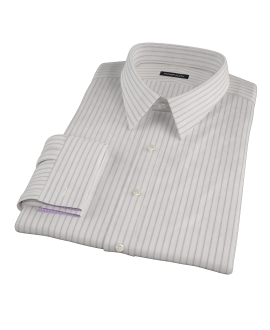 Japanese White and Lavender Dress Shirt 