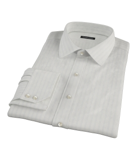 Light Blue Satin Stripe Dress Shirt 