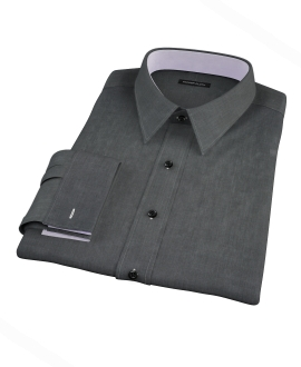 Jones Charcoal End on End Tailor Made Shirt