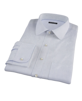 Blue Fine Stripe Men's Dress Shirt 