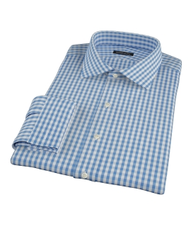 Canvas Blue Gingham Custom Dress Shirt