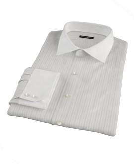 Lavender Gray Dobby Stripe Fitted Shirt