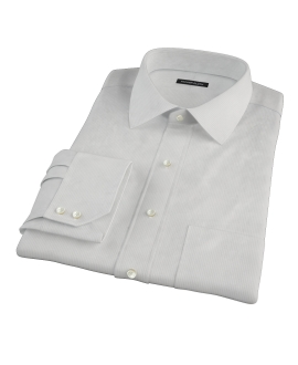 100s Pale Gray Stripe Men's Dress Shirt