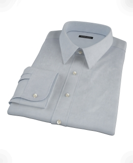Stormy Light Blue Pinpoint Dress Shirt