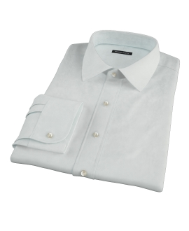 Bowery Mint Green Pinpoint Custom Made Shirt 
