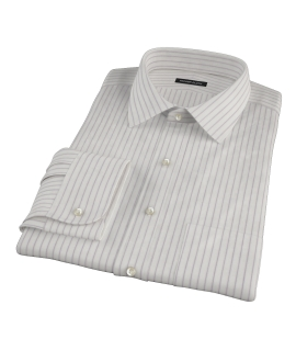 Japanese White and Lavender Men's Dress Shirt 