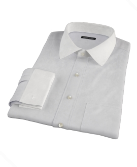 Bowery Light Gray Pinpoint Custom Dress Shirt 
