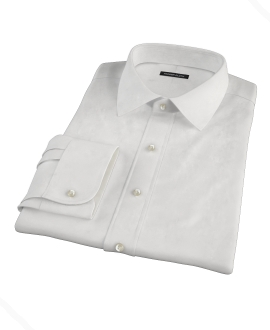 Albini White Broadcloth Dress Shirt 