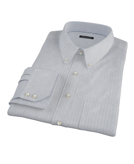 Japanese Light Blue Multi Stripe Custom Made Shirt 
