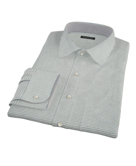 Green and Blue Check Men's Dress Shirt 